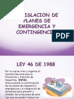 LEGISLACION Plan de emergencia y contingencia en colombia