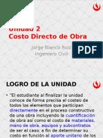 Clase 02 - Costo Directo de Obra (1)