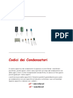 Codice Condensatori