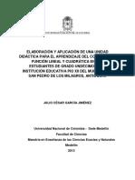 Unidad Didactica Matematicas