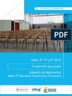 Ejemplos de Preguntas Saber 9 Educacion Economica y Financiera 2015