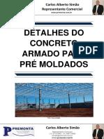 Detalhes do Concreto Armado para Pré Moldados