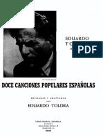 Toldrá-Doce Canciones Populares Españolas
