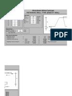 Program Perhitungan Retaining Wall (Fakih)