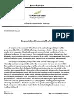 citizenship responsibility press release