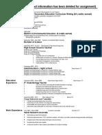 teaching resume 2016