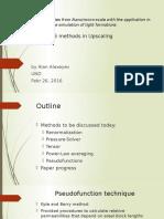 Upscaling methods for simulation