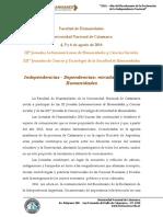 Jornadas Humanidades 2016 Primera Circular