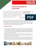 2Q14 Nota de Prensa ESP