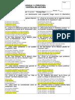 8º - Control de Lectura II - Selección de Poemas (Autores Chilenos)