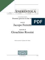 Rossini - La Cenerentola Libretto
