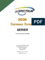 EUM-059 Rev. B, DICOM Conformance Statement Server v.4