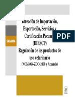 REGULACION DE LOS PRODUCTOS DE USO VETERINARIO
