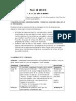Sesion Ciclo de Programa