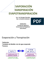 Evaporación y Evapotraspitación