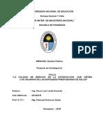 Proyecto Tesis Calidad de Servicio en La