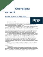 Corina Georgiana Saftoiu-Maine Va Fi O Zi Speciala 0.9 06
