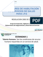 5 Estandades de Habilitacion Para Ips