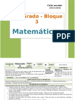 Plan 2do Grado - Bloque 3 Matemáticas