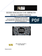 Redes sociales y su impacto sobre el cambio social