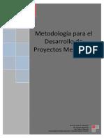 Metodología Para El Desarrollo de Proyectos Mecánicos 2016