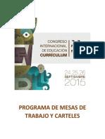 Programa de Mesas de Trabajo y Carteles