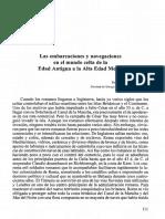 Las embarcaciones y navegaciones en el mundo celta de la Edad Antigua a la Alta Edad Media. Fernando Alonso Romero .PDF
