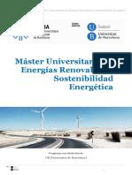 Máster Universitario en Energías Renovables y Sostenibilidad Energética