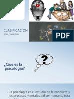 Clasificación de la Psicologia
