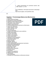 Capítulo 1 - Terminologia Básica Dos Movimentos