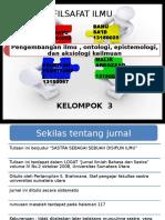 Pengembangan Ilmu , Ontologi, Epistemologi Ppt