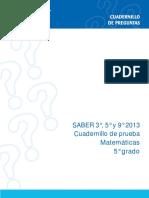 Ejemplos de Preguntas Saber 5 Matematicas 2013