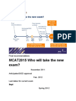 mcat2015timeline newtestformat