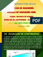 Sesion 08 - Ec. de Continuidad - Ec. Bernoulli