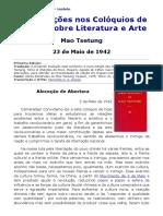 Intervenções Nos Colóquios de Ien-An Sobre Literatura e Arte