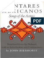 Cantares Mexicanos Songs of the Aztecs