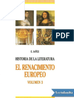 El Renacimiento Literario Europeo - Eduardo Ianez