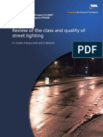 Css Sl1 Class and Quality of Street Lighting