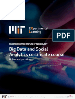 Mit Big Data and Social Analytics Info Pack