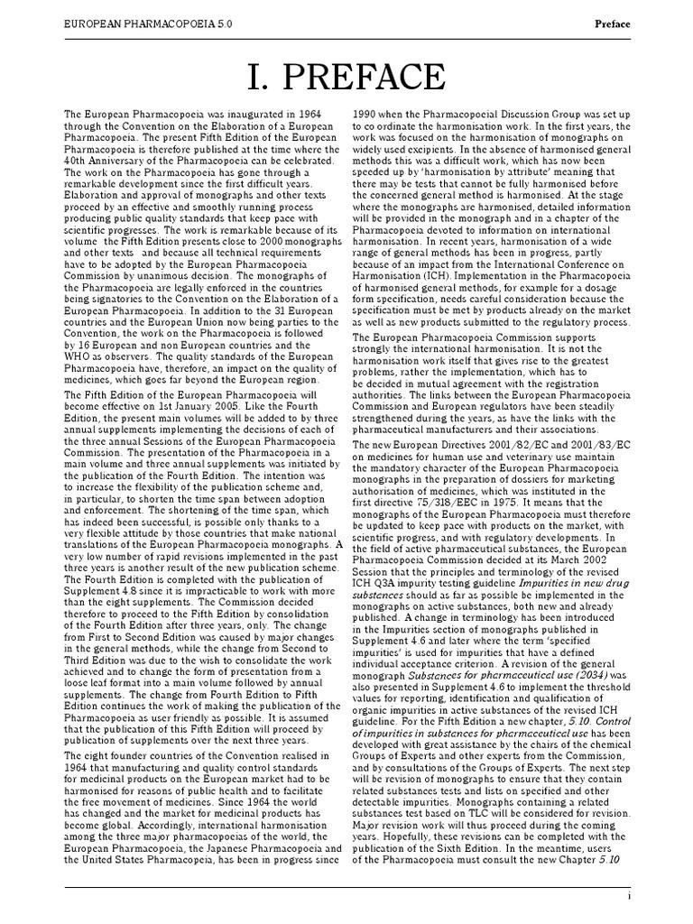 European pharmacopoeia 5th editon fandeluxe Choice Image