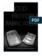 Artigo - Solid Freeform Fabrication (SFF) - Spectrum 1999