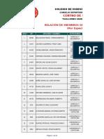 Relacion Miembros Centro Peritaje Enero 2015