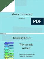 Marine Taxonomy Revised PDF