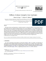 Stiffness of Planar Tensegrity Truss Topologies by Jager, Skelton 2006