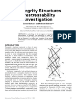 Tensegrity Structures Prestressability Sultan, Skelton 2001