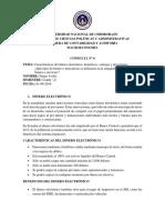 CONSULTA N° 6 Características del dinero electrónico, beneficios, ventajas y desventajas.