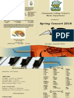 music programme 2016