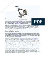Belt and Pulley Systems