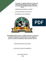 INGENIERIA BÁSICA PARA LA AMPLIACIÓN DE LA LINEA DE GASODUCTO