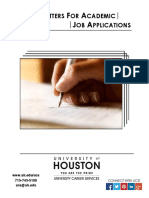 Cover Letters for Academic Job Applications